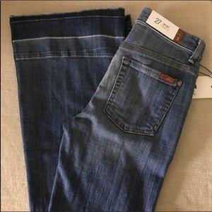 NEW 7FAMK Ginger Trouser Flare Jeans